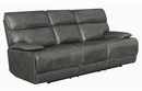 Stanford 2-Pc Charcoal Power Recliner Sofa Set (Oversized) by Coaster
