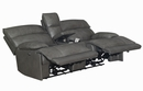 Stanford 3-Pc Charcoal Power Recliner Sofa Set (Oversized) by Coaster