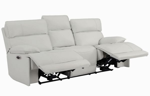 Stanford 3-Pc White Power Recliner Sofa Set (Oversized) by Coaster