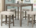 Sumati Dark Walnut Wood Counter Height Table by Best Master Furniture