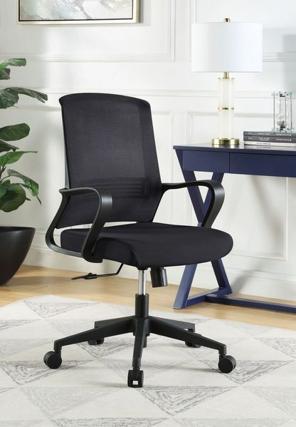 Tanko Black Fabric Office Chair by Acme