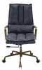 Tinzud Gray Leather/Metal Swivel Office Chair by Acme