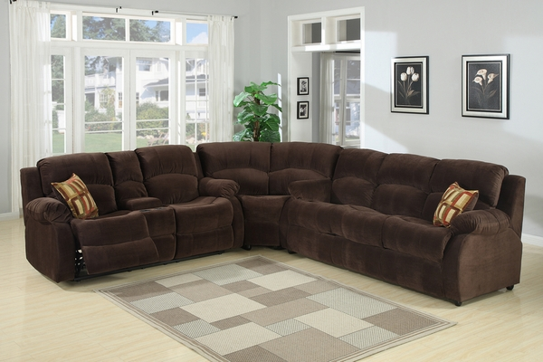 Tracey Chocolate Fabric Manual Recliner Loveseat by AC Pacific
