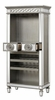 Varian Mirrored/Antique Platinum Wood High Wine Cabinet by Acme