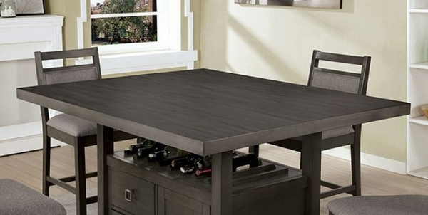 Vicky Gray Wood Counter Height Table by Furniture of America