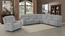 Wagner Grey Velvet 2xPower Recliner by Coaster