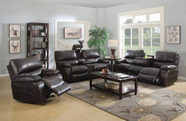 Willemse 3-Pc Dark Brown Manual Recliner Sofa Set by Coaster