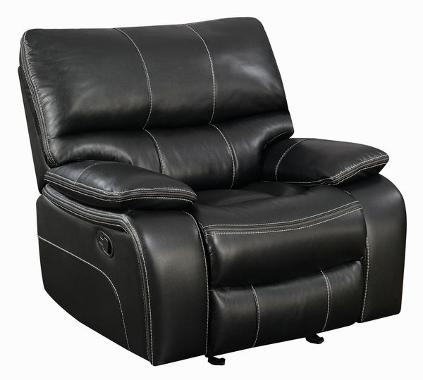 Willemse Black Leatherette Manual Glider Recliner by Coaster