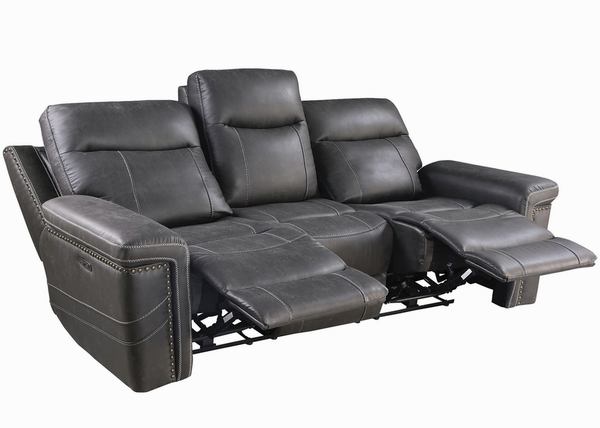 Wixom 2-Pc Charcoal 2xPower Recliner Sofa Set (Oversized) by Coaster