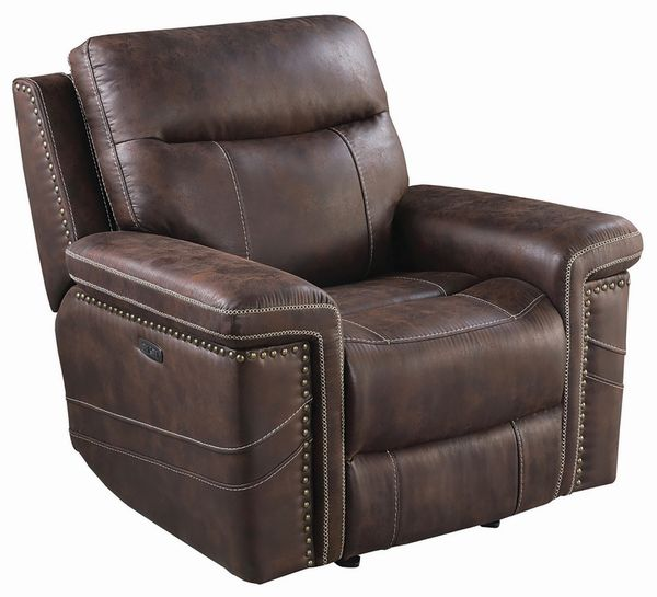 Wixom 3-Pc Brown 2xPower Recliner Sofa Set (Oversized) by Coaster