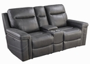 Wixom 3-Pc Charcoal 2xPower Recliner Sofa Set (Oversized) by Coaster