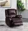Zuriel Brown PU Leather Power Recliner with USB by Acme