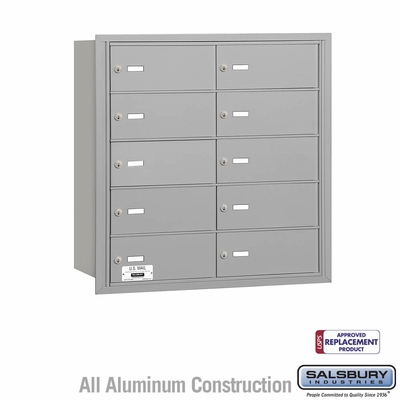 Salsbury 3610ARU 4B Mailboxes 10 Tenant Doors Rear Loading - USPS Access