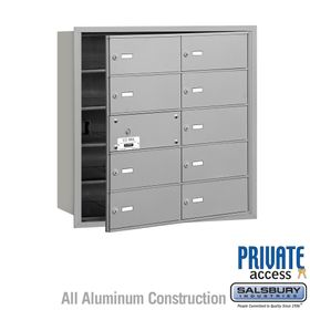 4B Mailboxes 10 Doors (9 Usable) Front Loading - Private Use