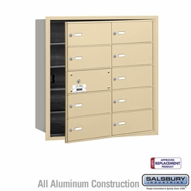 Salsbury 3610SFU 4B Mailboxes 9 Tenant Doors Front Loading - USPS Access