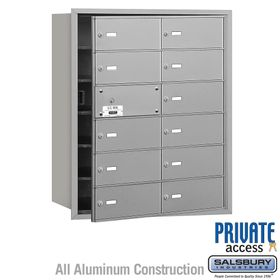 4B Mailboxes 12 Doors (11 Usable) Front Loading - Private Use