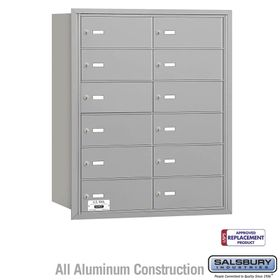 Salsbury 3612ARU 4B Mailboxes 12 Tenant Doors Rear Loading - USPS Access