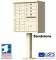 12 Door Stucco CBU Mailbox Center - Column and Mailbox Included (Choose Colors)