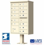 USPS Approved 13 Door Cluster Mailboxes