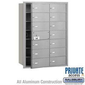 4B Mailboxes 14 Doors (13 Usable) Front Loading - Private Use