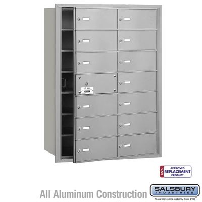 Salsbury 3614AFU 4B Mailboxes 13 Tenant Doors Front Loading - USPS Access