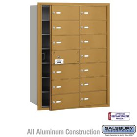 Salsbury 3614GFU 4B Mailboxes 13 Tenant Doors Front Loading - USPS Access
