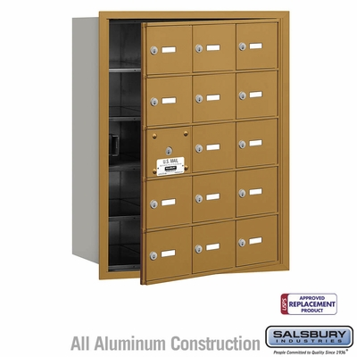 Salsbury 3615GFU 4B Mailboxes 14 Tenant Doors Front Loading - USPS Access