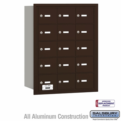 Salsbury 3615ZRU 4B Mailboxes 15 Tenant Doors Rear Loading - USPS Access