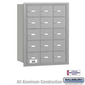 Salsbury 3615ARU 4B Mailboxes 15 Tenant Doors Rear Loading - USPS Access