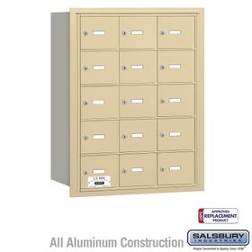 Salsbury 3615SRU 4B Mailboxes 15 Tenant Doors Rear Loading - USPS Access