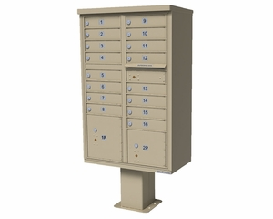 1565 Series USPS High Security CBU Commercial Mailbox - 16 Doors