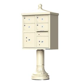 Decorative Traditional 4 Door CBU Mailboxes with Extra Large Tenant Doors Sandstone