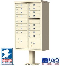 USPS Approved 16 Door Cluster Mailboxes