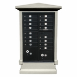 16 Door Stucco CBU Mailbox Center - Column and Mailbox Included (Choose Colors)
