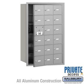 4B Mailboxes 18 Doors (17 Usable) Front Loading - Private Use