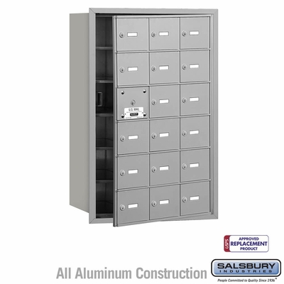 Salsbury 3618AFU 4B Mailboxes 17 Tenant Doors Front Loading - USPS Access