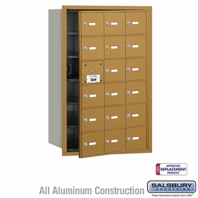 Salsbury 3618GFU 4B Mailboxes 17 Tenant Doors Front Loading - USPS Access
