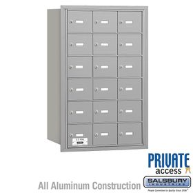 4B Mailboxes 18 Doors - Rear Loading - Private Use