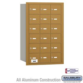 Salsbury 3618GRU 4B Mailboxes 18 Tenant Doors Rear Loading - USPS Access