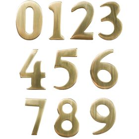 "2"" Brass Numbers (Non-adhesive back; adhered to address plaque by manufacturer)"