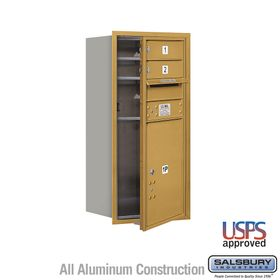 Salsbury 3709S-02GFU 4C Mailboxes 2 Tenant Doors Front Loading