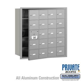 4B Mailboxes 20 Doors (19 Usable) Front Loading - Private Use
