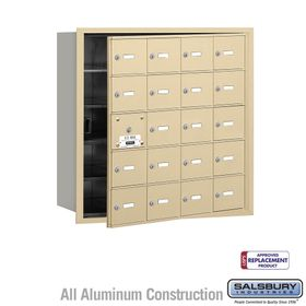 Salsbury 3620SFU 4B Mailboxes 19 Tenant Doors Front Loading - USPS Access