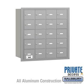 4B Mailboxes 20 Doors - Rear Loading - Private Use