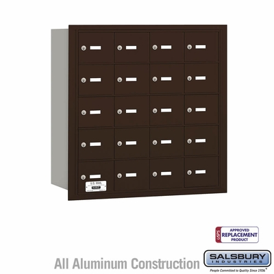 Salsbury 3620ZRU 4B Mailboxes 20 Tenant Doors Rear Loading - USPS Access