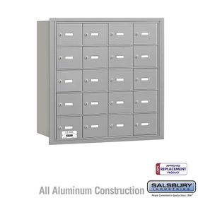 Salsbury 3620ARU 4B Mailboxes 20 Tenant Doors Rear Loading - USPS Access