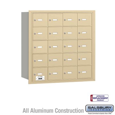 Salsbury 3620SRU 4B Mailboxes 20 Tenant Doors Rear Loading - USPS Access