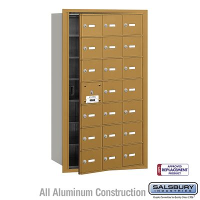 Salsbury 3621GFU 4B Mailboxes 20 Tenant Doors Front Loading - USPS Access