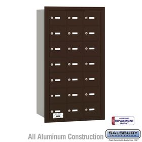 Salsbury 3621ZRU 4B Mailboxes 21 Tenant Doors Rear Loading - USPS Access