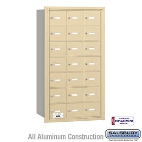 Salsbury 3621SRU 4B Mailboxes 21 Tenant Doors Rear Loading - USPS Access